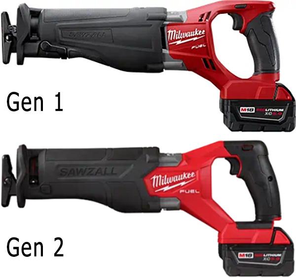 Milwaukee M18 Fuel Sawzall Comparison 2720 vs 2821