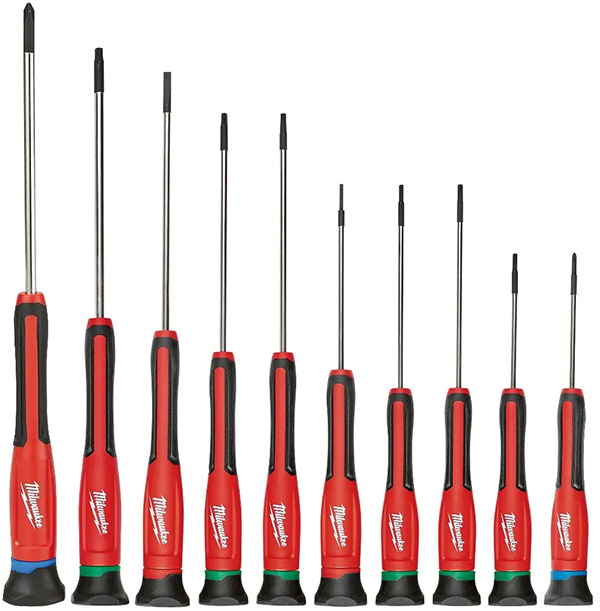 Milwaukee Tool 10pc Precision Screwdriver Set 48-22-2612