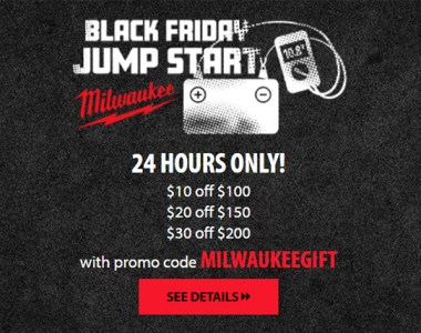 Acme Tools Milwaukee Tools Coupon 11-17-2020 Black Friday Jumpstart