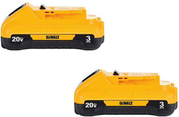 Dewalt 20V Max 3Ah Battery 2-Pack