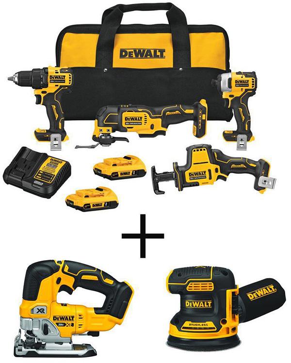 Dewalt Atomic Cordless Power Tool Free Bonus Sander and Jig Saw Multi-Tool Home Depot Black Friday 2020 Deal