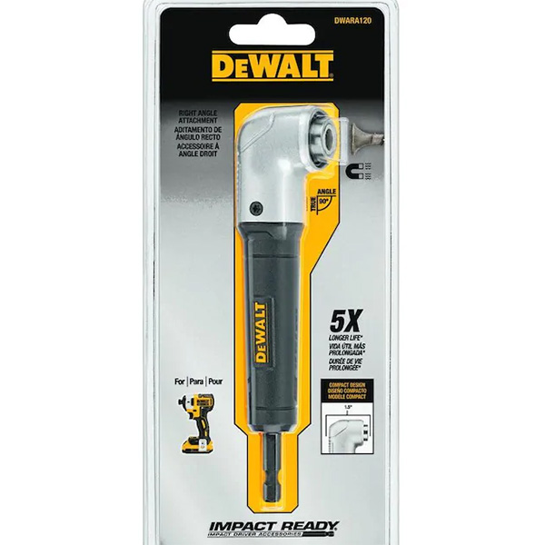 Dewalt Right Angle Adapter DWARA120 Packaging