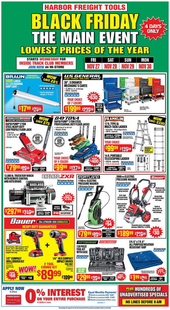 Harbor Freight Black Friday 2020 Tool Deals Page 1
