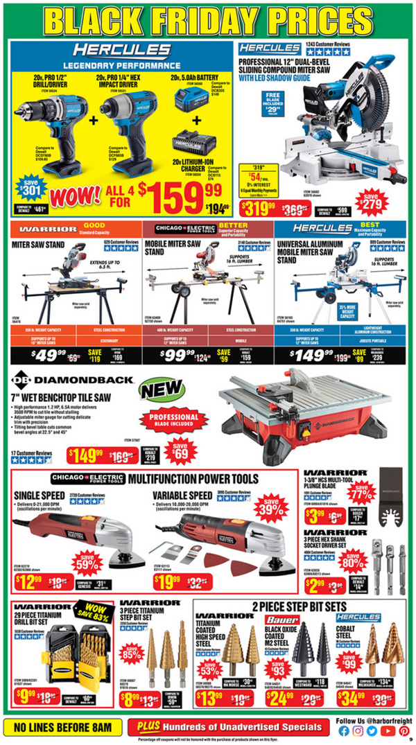 Harbor Freight Black Friday 2020 Tool Deals Page 9
