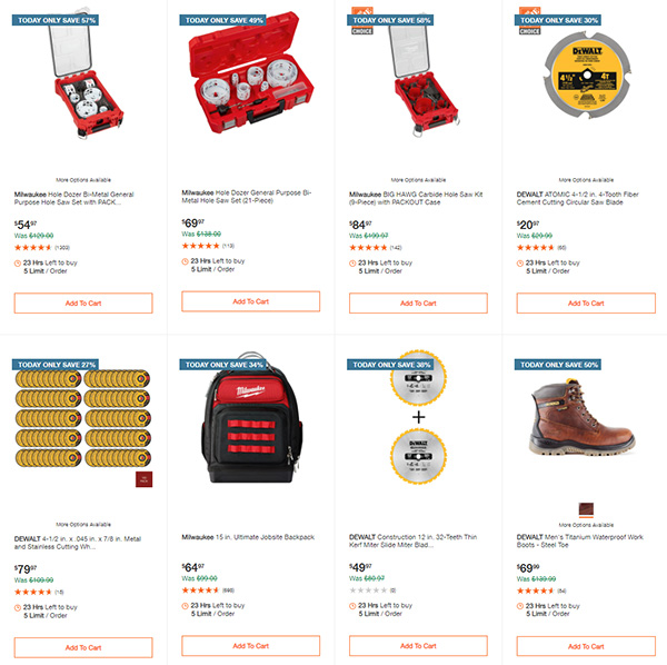 Home Depot Cyber Monday Dewalt Milwaukee Makita Tool Deals of the Day Page 9