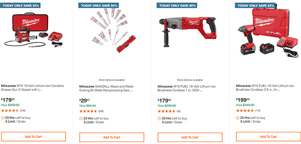 Home Depot Milwaukee Tool Deals of the Day 11-26-2020 Page 4