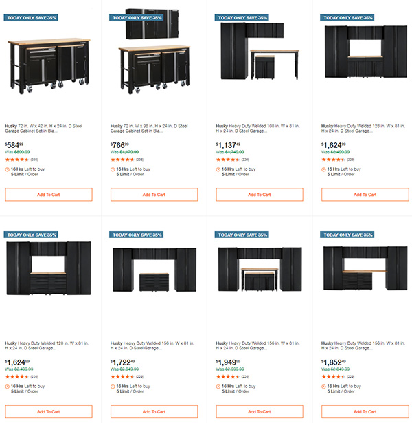 Husky Garage Storage Deals Home Depot 11-29-2020