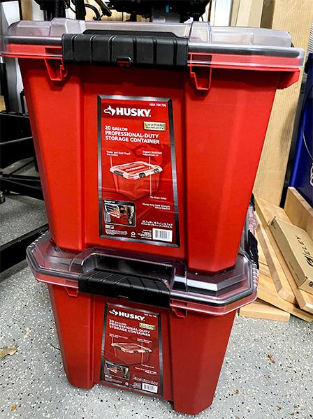 Husky Professional Storage Bins Stacked