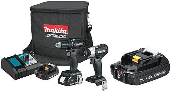 Makita CX200RB Cordless Power Tool Combo Kit with Bonus Battery