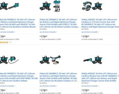 Makita Cordless Power Tool Promo Amazon Black Friday 2020