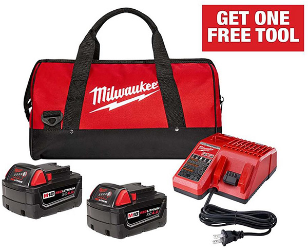 Milwaukee M18 Cordless Power Tool Starter Kit Home Depot Free Bonus 2020