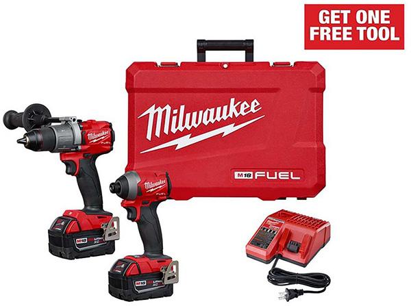 Milwaukee M18 Fuel Cordless Power Tool Combo Kit Home Depot Free Bonus 2020