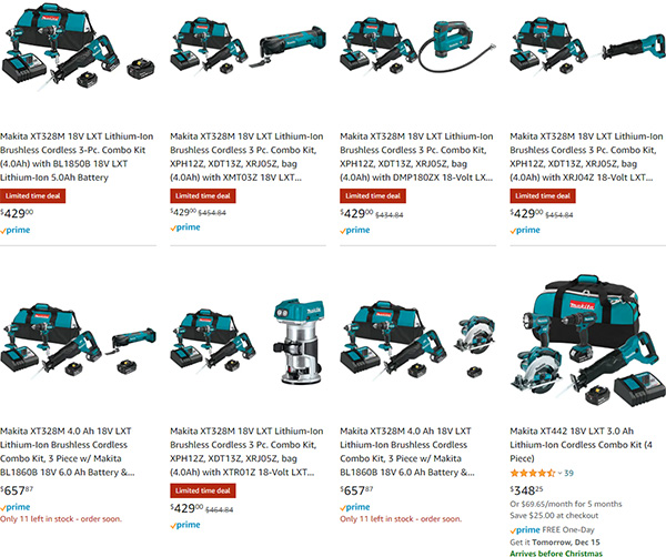 Green Monday Amazon Makita Bundle Deal