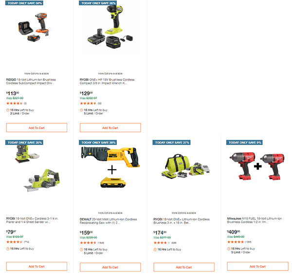 Home Depot Milwaukee Ryobi Tool Deals of the Day 12-7-2020 Page 3