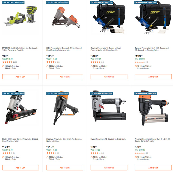 Home Depot Milwaukee Ryobi Tool Deals of the Day 12-7-2020 Page 5