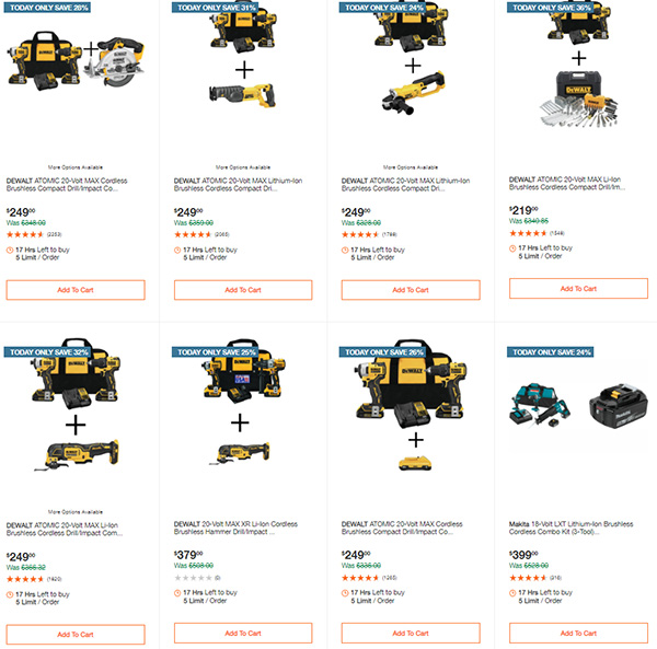Home Depot Tool Deals of the Day 12-14-2020 Page 1