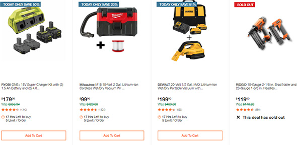 Home Depot Tool Deals of the Day 12-14-2020 Page 7