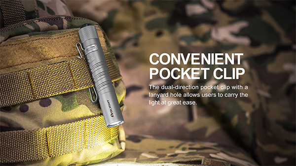 Olight i3T Titanium LED Flashlight Pocket Clip