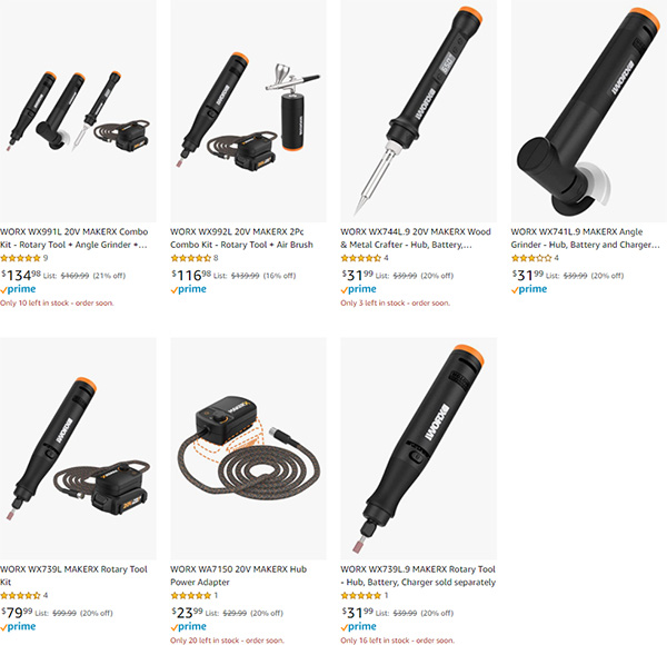 Worx Maker-X Tool Deals at Amazon