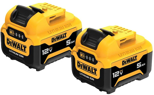 Dewalt DCB126 12V Max 5Ah Cordless Power Tool Battery 2-Pack