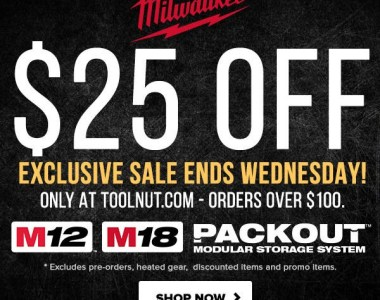 Milwaukee Tool Flash Sale 1-19-2021 Hero