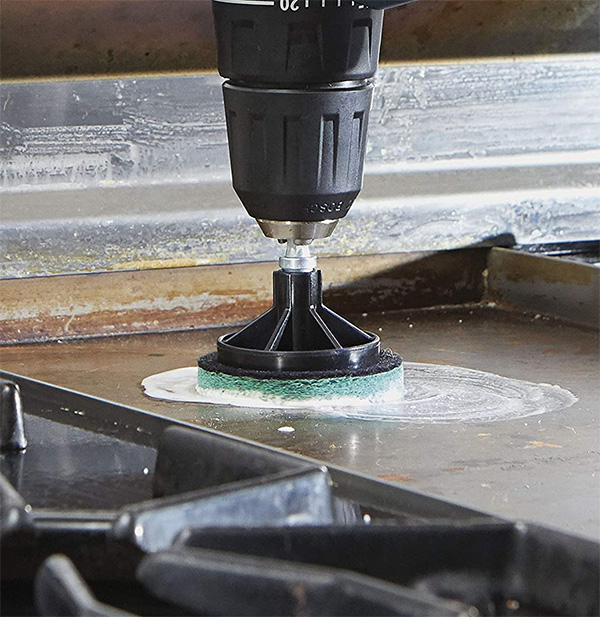 Dremel PC375-U Drill Cleaning Brush Kit Used on Stove