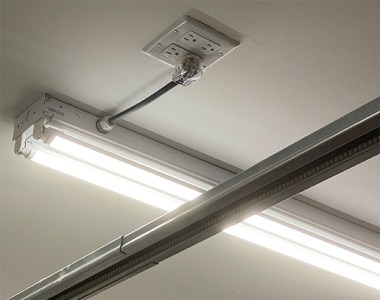 LED Light Fixture Ceiling Install with Short Plug-in Cord