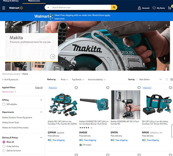 Makita Tools at Walmart Pro Tools Store