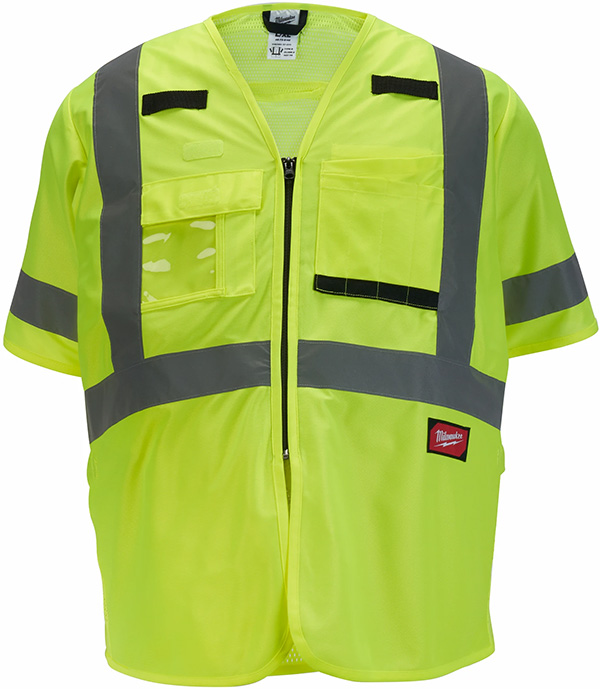 Milwaukee Tool High Visibility Yellow Class 3 Safety Vest