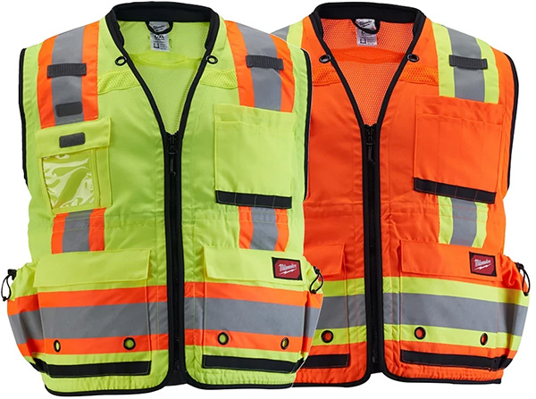 Milwaukee Tool High Visibility Yellow and Orange Surveyor Safety Vests