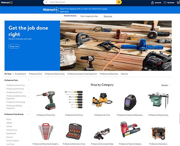 Walmart Pro Tools Store 2021