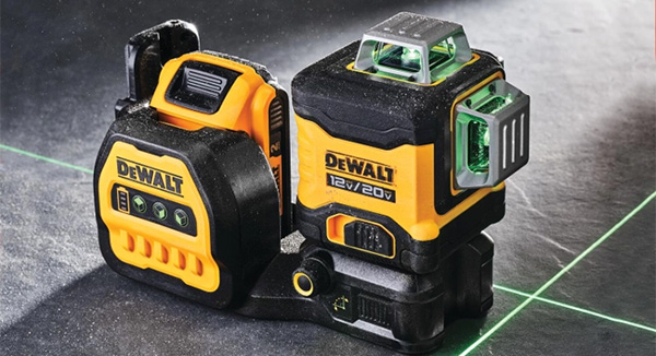 Dewalt DCLE34030G 20V Max 3x360 Green Line Laser on Floor