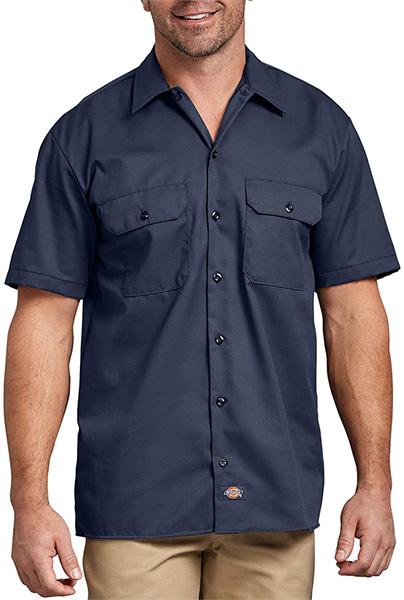 Dickies Short Sleeve Work Shirt in Blue
