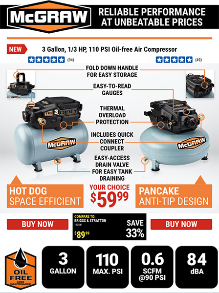 Harbor Freight Air Compressor Newsletter Reliable Performance Claim