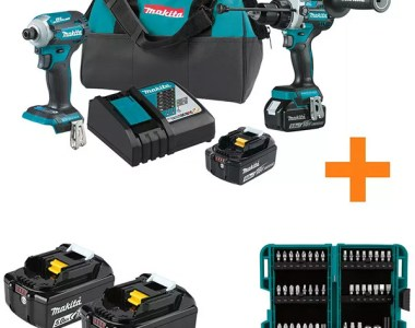 Makita XT288T Cordless Power Tool Combo Kit Plus Bonus Items