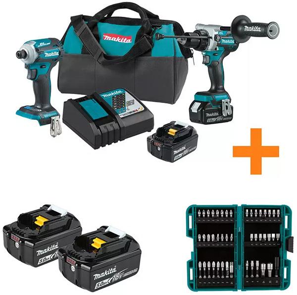 Makita XT288T Cordless Power Tool Combo Kit Plus Bonus Items
