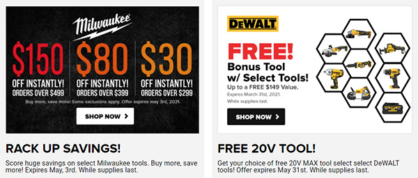 Tool Nut Tool Deals March 2021