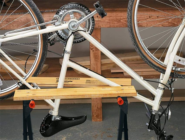 Black Decker Workmate Holding Bicycle