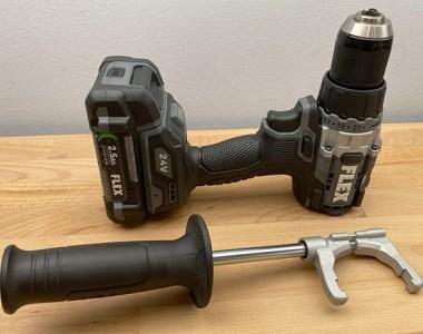 Flex 24V Max Cordless Drill Flat Motor Back