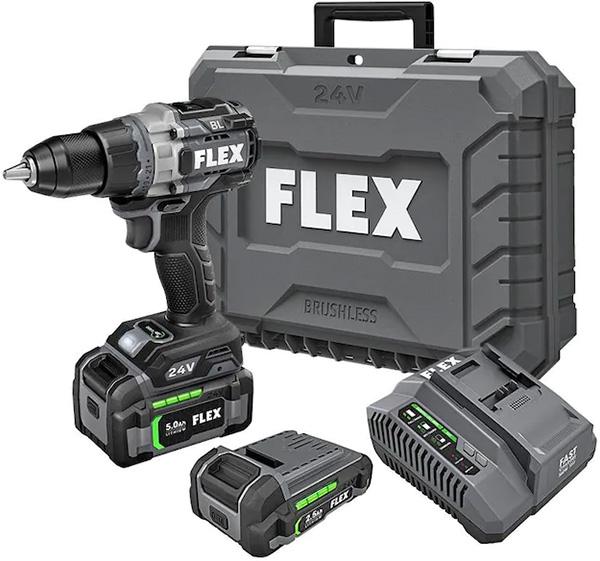 Flex Heavy Duty 24V Max Cordless Brushless Drill Kit