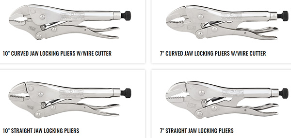 Malco Eagle Grip Locking Pliers 2021 Launch Sizes