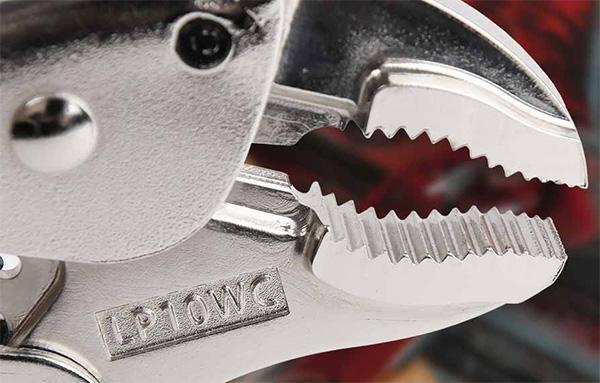 Malco Eagle Grip Locking Pliers Jaws Closeup