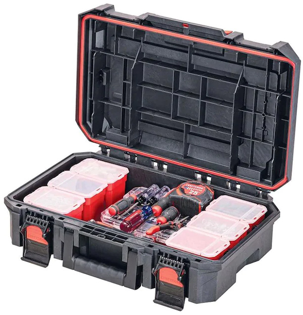 Craftsman TradeStack Small Tool Box Open with Tools and Organizers