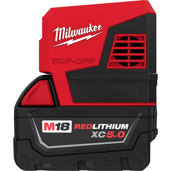 Milwaukee 18 Top-Off Power Inverter with 5Ah Battery