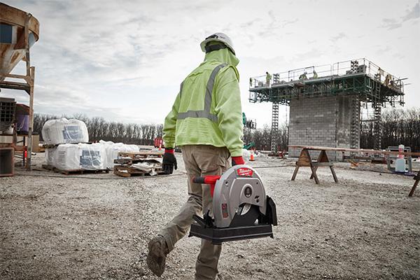 Milwaukee M18 Fuel Cordless Abrasive Saw Carrying Portability