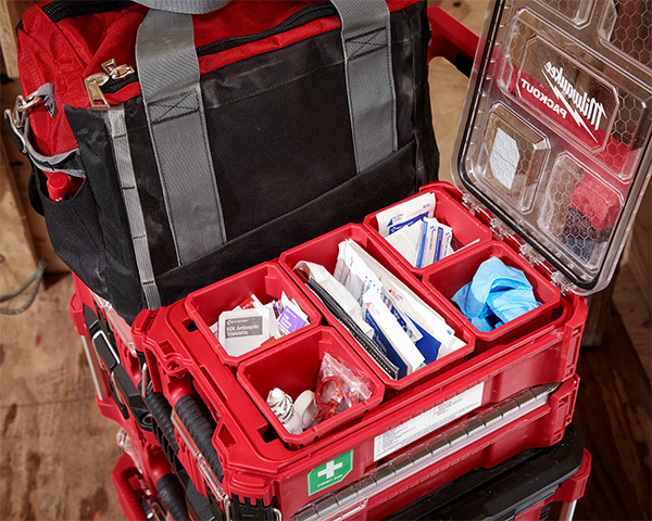 Milwaukee Packout First Aid Kit Small Organizer Open