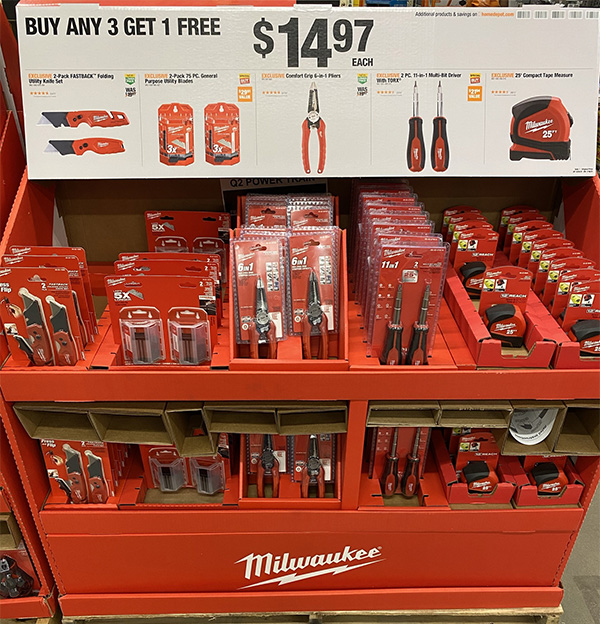 Milwaukee Tool Deals at Home Depot - Buy 3 Get 1 Free Hand Tools Fathers Day 2021