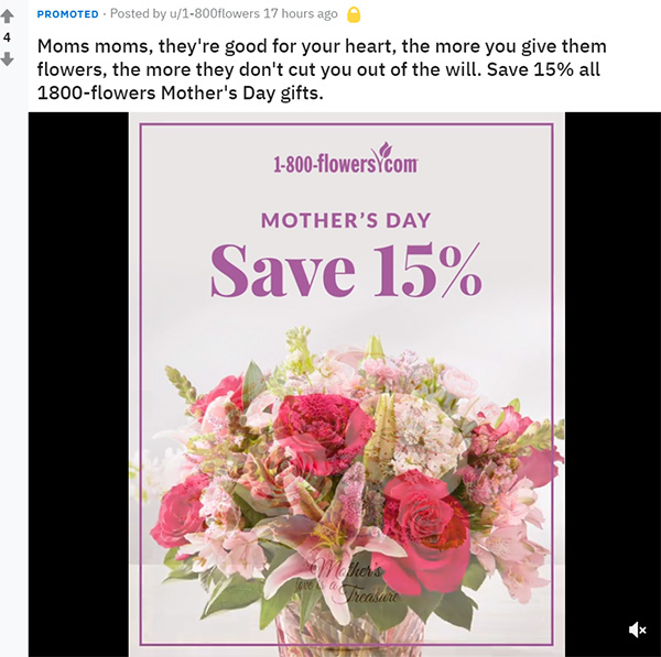 Mothers Day Flower Ad