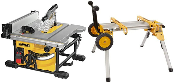 Dewalt DWE7485 Table Saw with Rolling Stand DW7440RS