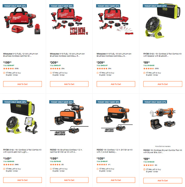 Home Depot Cordless Power Tool Deals of the Day 060721 Page 1
